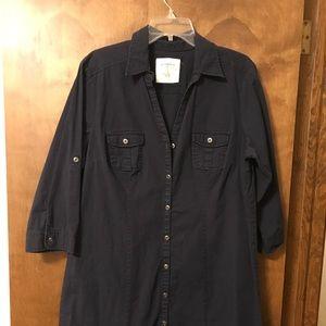 Sonoma, long sleeve, button down, dress.